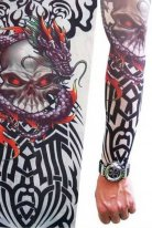 Tattoo Giyilebilir Dövme İskelet Motifli