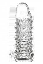 Kabartmalı Kristal Görünümlü Güçlü Uyarıcı Dildo ve Penis Kılıfı