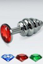 Kırmızı Küçük boy metal anal plug