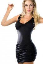 Sırt Dekolteli Fantazi Elbise Siyah