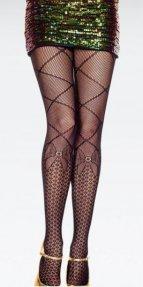 Özel Tasarım Fiyonk Desenli Külotlu Çorap