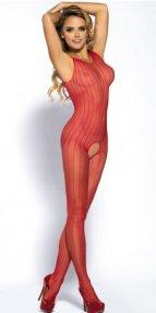 Özel Bölgesi Açık Kırmızı Vücut Çorabı