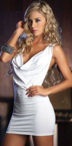 Özel Tasarım Beyaz Mini Elbise