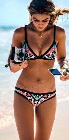 Şık Tasarım Çok Renkli Bikini