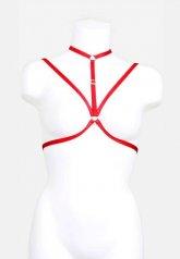 Kırmızı Harnes Bralet Aksesuarı
