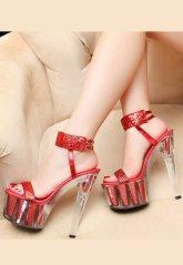 Yüksek Topuklu Fantazi Şeffaf Platform Ayakkabı