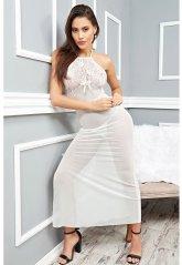 Beyaz Transparan Sexy Gecelik