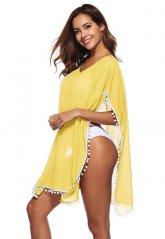 Nokta Shop Sarı Pareo Seksi Plaj Elbisesi