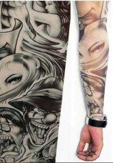 Tattoo Giyilebilir Dövme Bayan Motifli