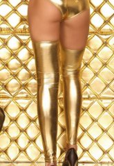 Altın Rengi Parlak Çorap