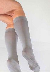 Teni Göstermeyen Mikro Dizaltı Çorap Gri