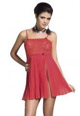 Gecelik Fantazi Giyim Kırmızı Transparan