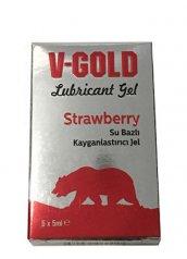 V Gold Çilekli kayganlaştırıcı 5 x 5 ml kutu