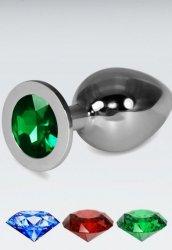 Yeşil Büyük boy metal anal plug