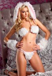 Tüylü Tavşan Kız Kostümü