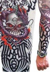 Giyilebilir Dövme İskelet Motif