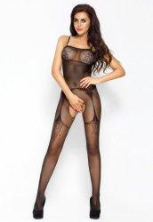 Özel Bölgesi Açık Siyah Erotik Vücut Çorabı