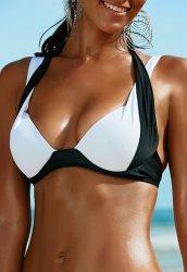 Siyah Beyaz Bikini Üst