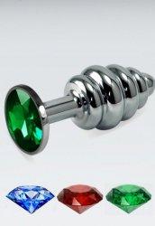 Yeşil Küçük boy metal anal plug