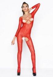 Desenli Kırmızı Vücut Çorabı