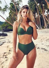 Yeşil Renk Yüksek Bel Bikini