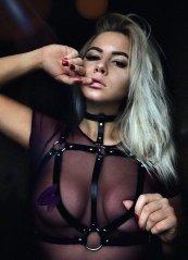Seksi Feitş Deri Harness