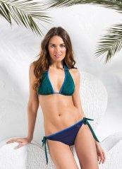 Çita Desenli Yeşil Bikini Orna