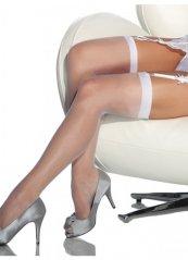 Standart Düz Jartiyer Çorabı Beyaz