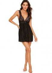 Siyah Gecelik Sexy Kadın Giyim