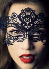 Seksi Dantel Siyah Göz Maskesi