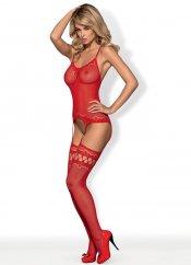 Jartiyerli Kırmızı Vücut Çorabı