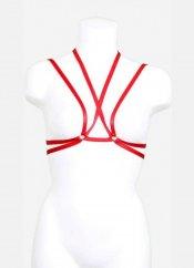 Kırmızı Şeritli Dekolte Bralet Aksesuarı