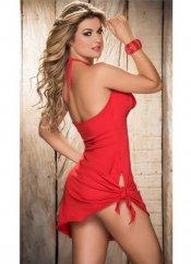 Mite love sırt ve göğüs dekolteli fantezi elbise