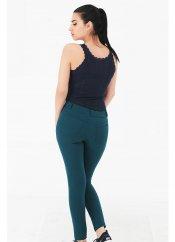 Mite love cep detaylı pantolon tayt yeşil