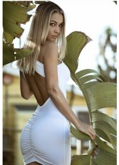 Mite love sırt dekolteli mini elbise beyaz