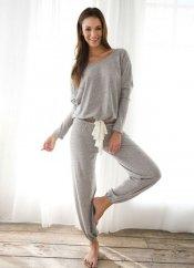 Gri Eşofman Pijama Takım