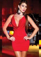 Sırtı Metal Aksesuarlı Kırmızı Mini Ebise