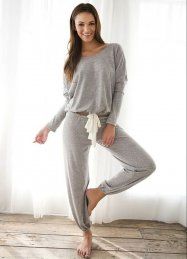 Gri Eşofman Pijama Üst