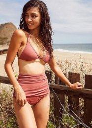 Gül Kurusu Yüksek Beli Bikini Takım