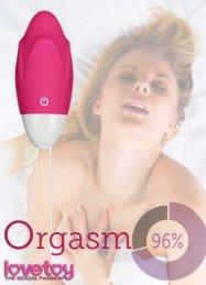 10 Farklı Titreşim Modlu Pembe Egg Masaj ve Orgazm Topu