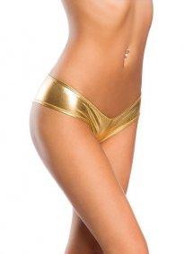 Seksi Deri Külot Gold Fantazi İç Giyim