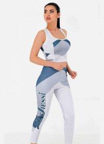 Fitness Takım Tayt Parlament Mavi