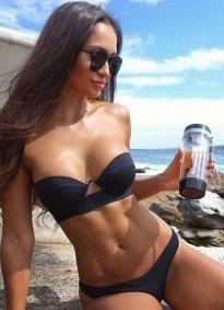 Angelsin Siyah Straplez Bikini Takım