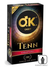 Okey Tenn Kabartmalı Prezervatif 8 li