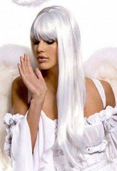 Beyaz Uzun Peruk