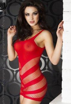 Çizgili Transparan Seksi İç Giyim