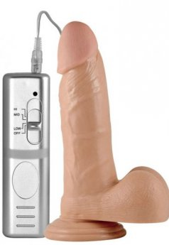 Süper Girthy Real Extreme 3 Kademeli Vibratörlü Penis