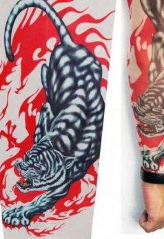 Leopar Figürlü Giyilebilir Dövme