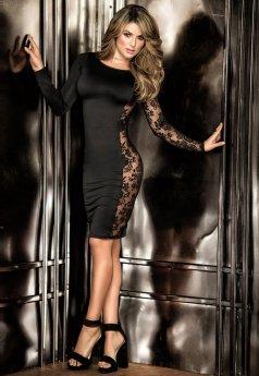 Nokta Shop Sexy Elbise Dantel Dekolteli