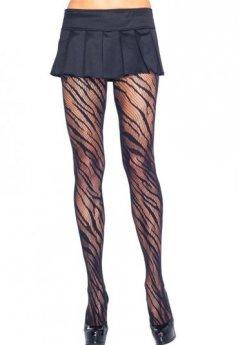 Zebra Tasarım Sexy Külotlu Çorap